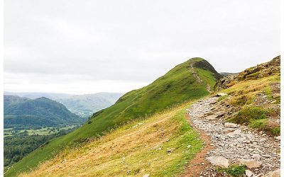 Walking up Catbells