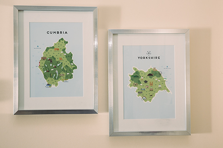 Cumbria and Yorkshire Map Graphics